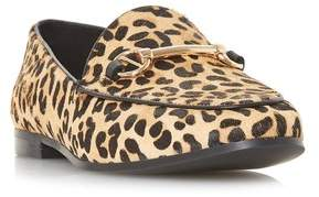 f1b73c09cb2 Next Womens Dune London Leopard Print Metal Trim Loafer