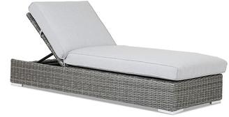One Kings Lane Emerald II Outdoor Chaise Lounge - Gray Sunbrella
