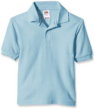 Fruit of the Loom Unisex Kids 65/35 Short Sleeve Polo Shirt,(Manufacturer Size:30)