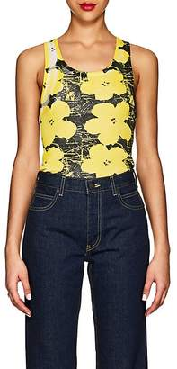 "Calvin Klein Women's ""Flowers"" Rib-Knit Cotton Tank"