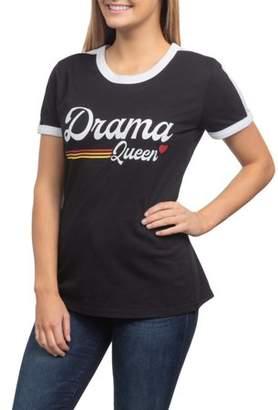 Hybrid Drama Queen Juniors' Generic Contrast Ringer Graphic Short Sleeve T-Shirt
