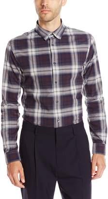 Vince Men's Melrose Cotton Linen Square Hem Button up