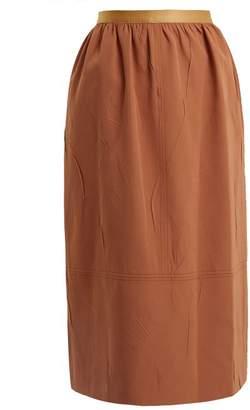 Joseph Olivier Creased Crepe Skirt - Womens - Tan