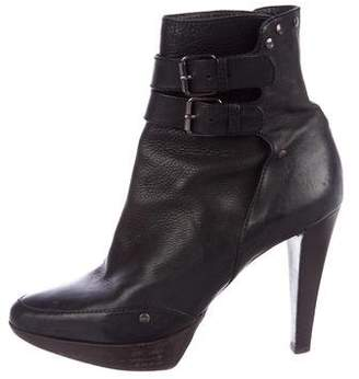 Proenza Schouler Leather Round-Toe Ankle Boots