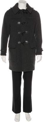 Burberry Wool House Check-Lined Toggle Coat