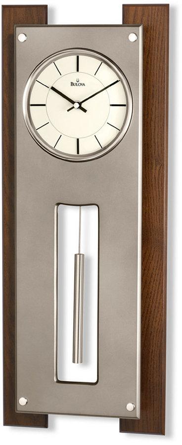 Bulova Walnut Finish Titanium Pendulum Wall Clock C3389