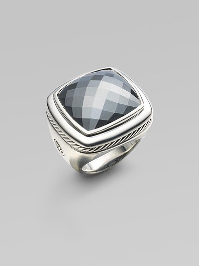 David Yurman Hematite & Sterling Silver Ring