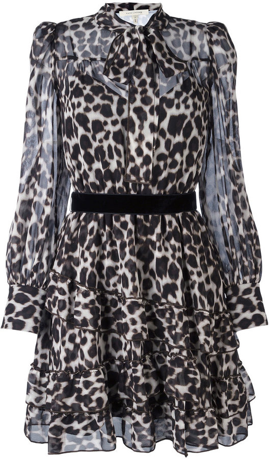 Marc JacobsMarc Jacobs leopard print shirt dress