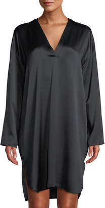 Vince V-Neck Tunic Dress, Black
