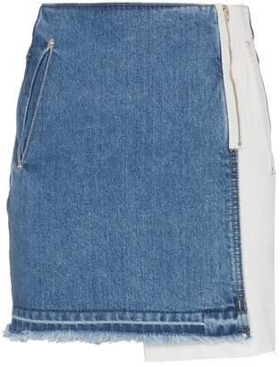 Sjyp Raw Hem Mini Skirt