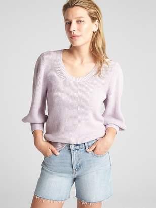 Gap Balloon Sleeve Pullover Sweater