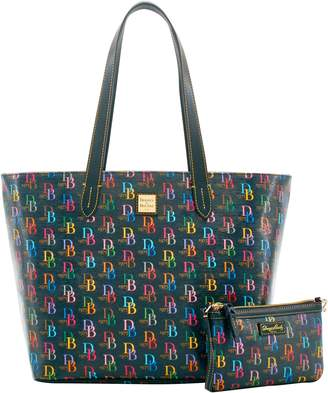 Dooney & Bourke DB75 Multi Large Zip Shopper Slim Wristlet