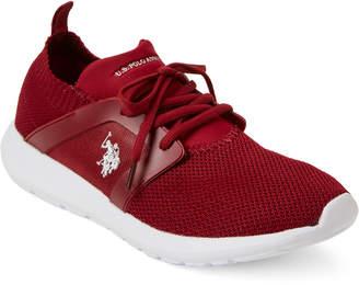 U.S. Polo Assn. Burgundy Aeris Knit Mesh Sneakers