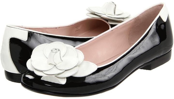 Taryn Rose Bella (Black/White Patent Leather) - Footwear