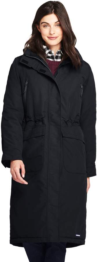 Lands'end Women's Petite Squall Insulated Winter Stadium Coat
