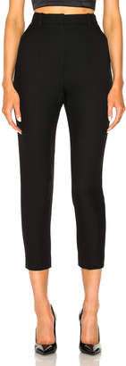Alexander McQueen Light Wool Silk High Waisted Cigarette Trousers
