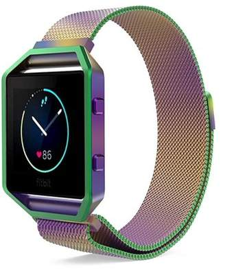 Fitbit Blaze Accessories Watch Band, Mignova Milanese Loop Stainless Steel Replacement Bracelet Strap Band + Metal Frame for Blaze Smart Fitness Watch (Multi-Colored)