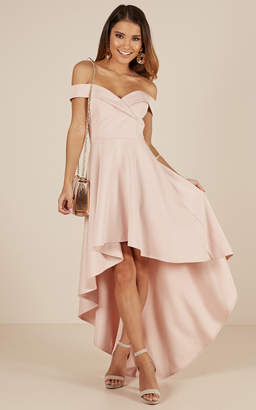 Showpo Minute To Midnight dress in blush - 4 (XXS) Occasion Dresses
