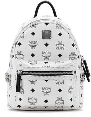 MCM Stark Visetos Small Side-Stud Backpack