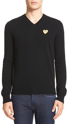 Men's Comme Des Garcons Play Wool Pullover $329 thestylecure.com