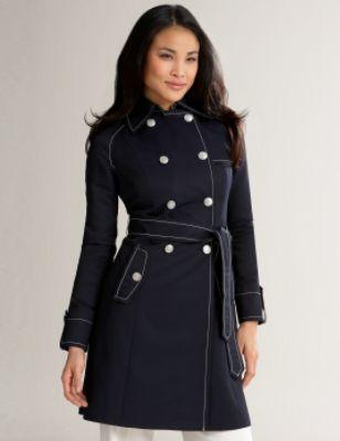City Twill Trench Coat