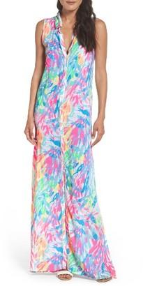 Women's Lilly Pulitzer Ezra Maxi Shirtdress $178 thestylecure.com