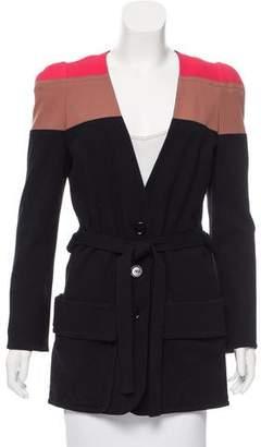 Sonia Rykiel Colorblock Button-Up Coat