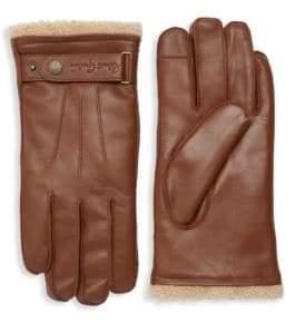 Robert Graham Austen Shearling Lined Leather Gloves