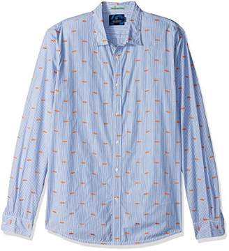 Scotch & Soda Men's Longsleeve Shirt in Cotton Quality with All-Over Mini Embroi