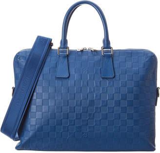 Louis Vuitton Blue Damier Infini Canvas Porte Documents Jour