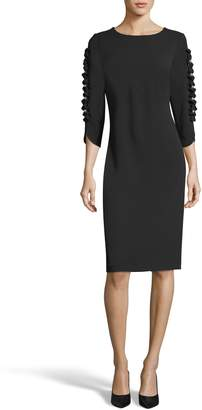ECI Ruffle Sleeve Sheath Dress