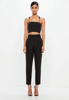 Missguided Black Tapered Pants