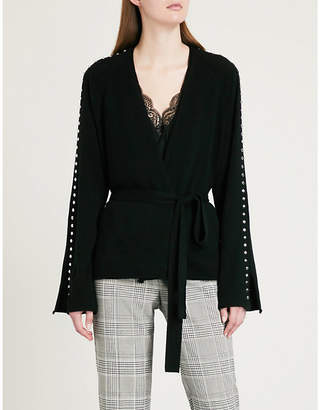 Zadig & Voltaire Lemmy stud-embellished wool and cashmere-blend cardigan