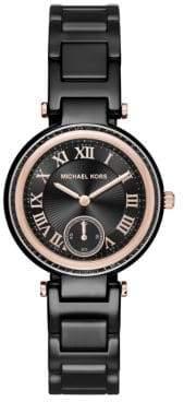 Michael Kors Skylar Mini Rose Goldtone Stainless Steel& Ceramic Bracelet Watch