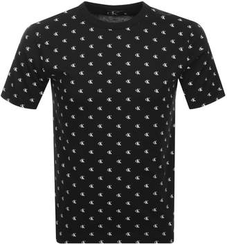 Calvin Klein Monogram Logo T Shirt Black