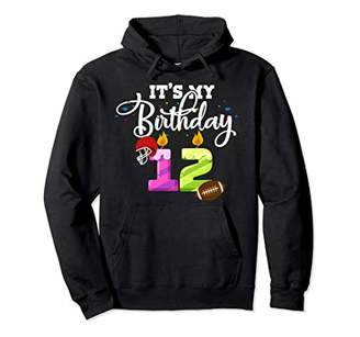 12 Years Old Gridiron Boys pullover hoodie 12th Birthday G