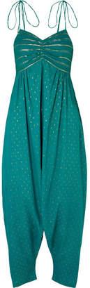 Miguelina Calla Tasseled Fil Coupe Cotton-blend Voile Jumpsuit - Emerald