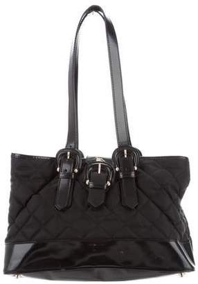 Burberry Leather-Trimmed Quilted Nylon Tote