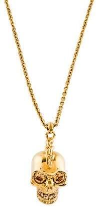 Alexander McQueen Crystal Skull Pendant Necklace