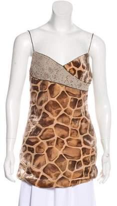 Nicole Miller Giraffe Sleeveless Top
