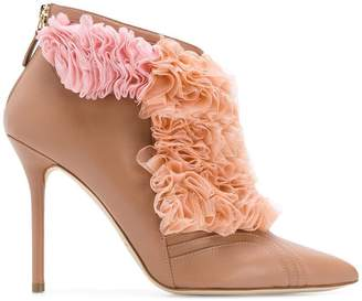 Malone Souliers By Roy Luwolt Fluffy frill tulle detail boots