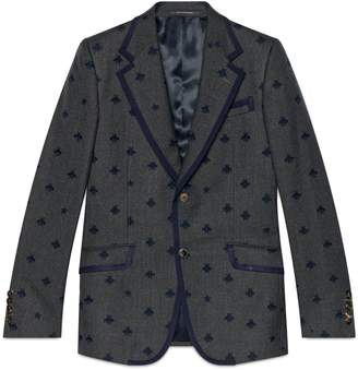 Gucci Heritage flannel jacket with bees