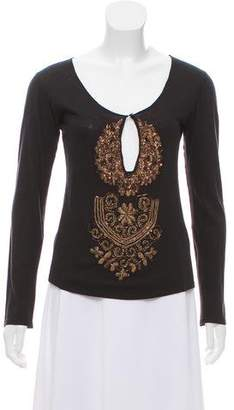 Etro Embellished Long Sleeve Top