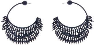 Oscar de la Renta Beaded Half-Hoop Earrings