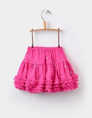 Joules True Pink Tick Tack Lilian Tutu Skirt 1yr