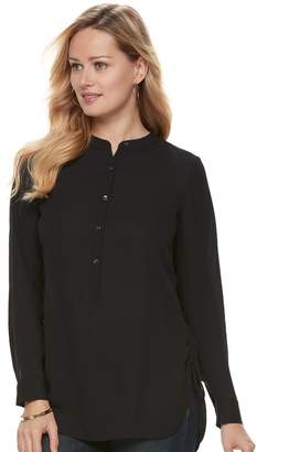 Apt. 9 Women's Side Ruched Henley Tunic