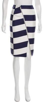 Nicholas Striped Silk Skirt