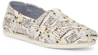 Toms Classic Minneapolis Printed Natural Canvas Slip-On Shoe