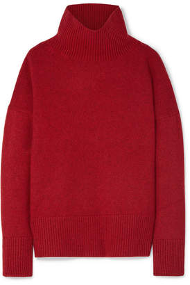 Vanessa Bruno Jafet Wool And Yak-blend Turtleneck Sweater - Crimson