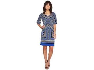 Tribal Flutter Sleeve Printed Dress Women's Dress